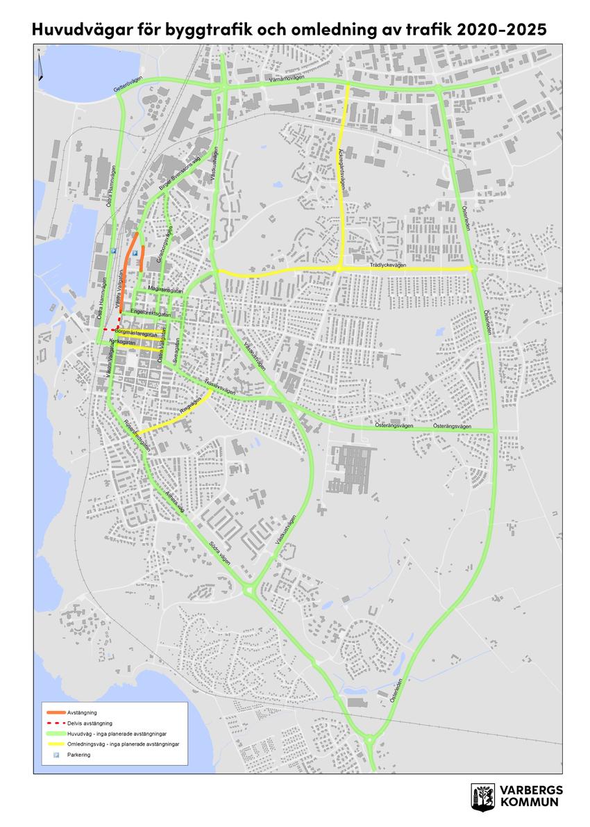 karta över varbergs kommun